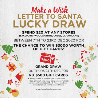 Letter to Santa Lucky Draw!