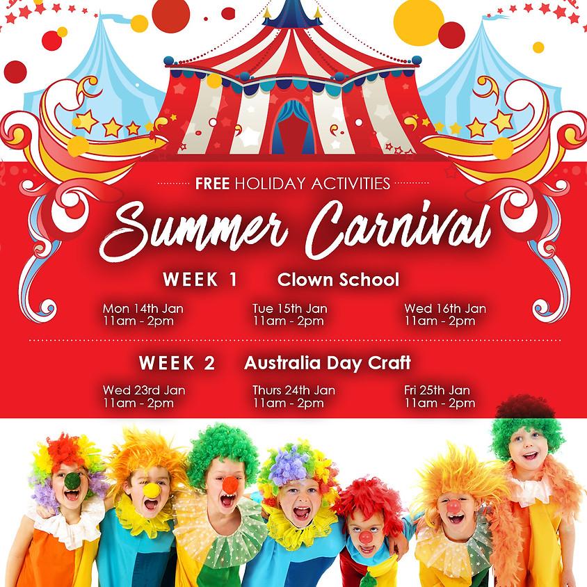 Summer Carnival Free Holiday Activities!