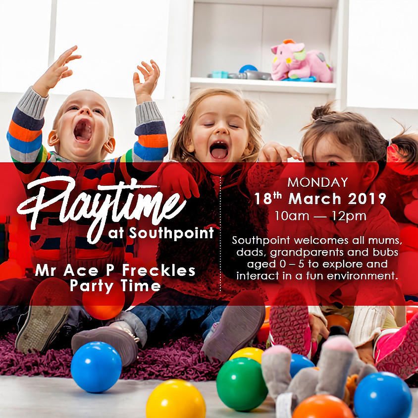 Mr Freckle Party Show at Playtime Southpoint Shopping Centre!