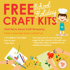 Free Take Home Craft this School Holiday!
