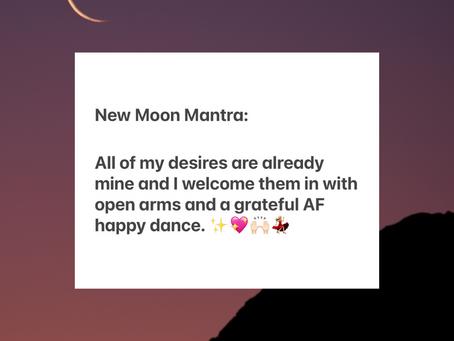 New Moon Mantra + Manifestation