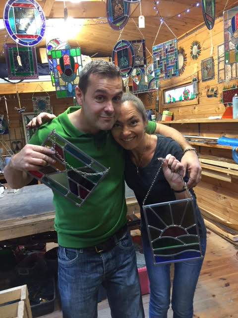 Saturday Stained Glass Class with Michael & Mercedes :)