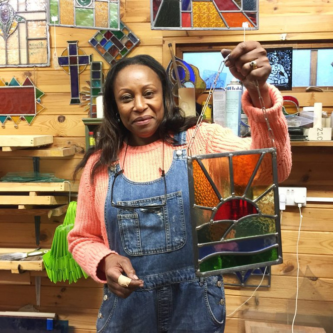 Beginners Stained Glass Classes - some lovely moments from this month
