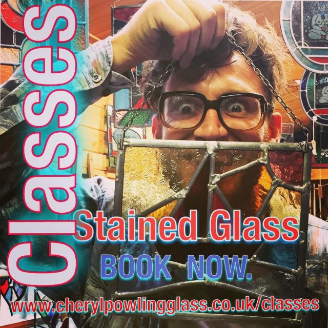 Breaking Glass with Mike.. Stained Glass Classes are cool