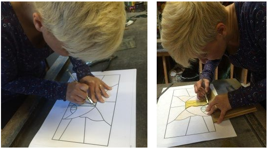Agnese.. One to one Stained Glass Saturday Course :)