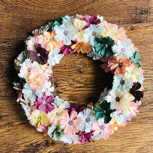 Vintage Shades Daisy Wreath