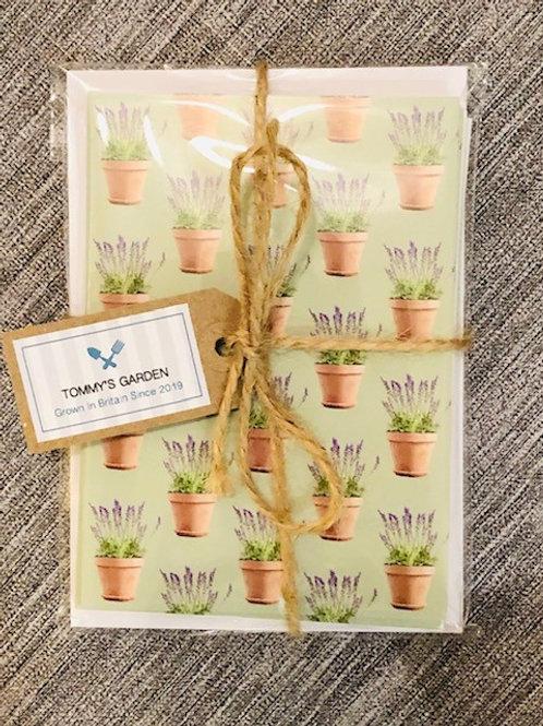 Lavender Pots Notecards