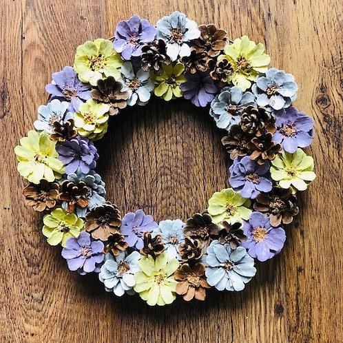 Fir Cone Floral Wreath