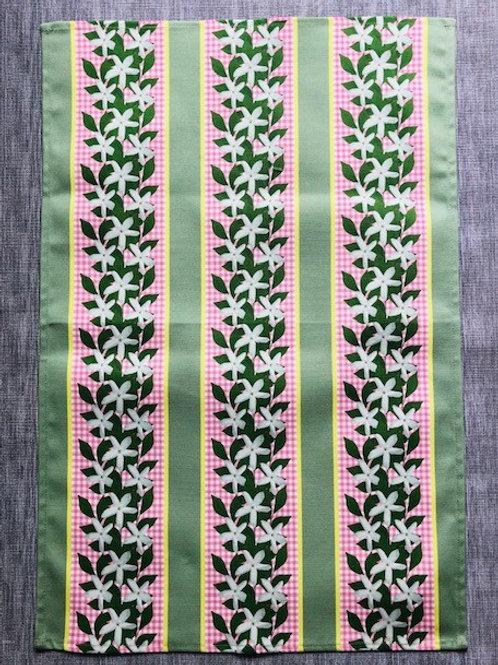 Jasmine Stripes Tea Towel