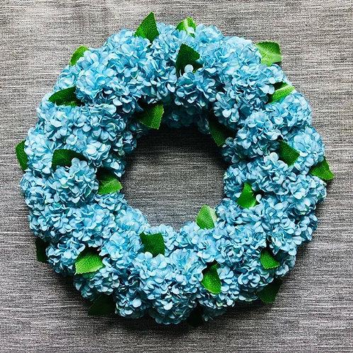 Blue Hydrangea Wreath