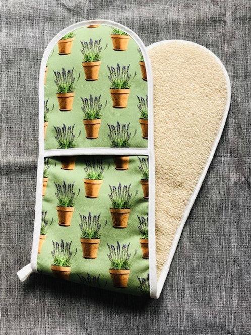 Lavender Pots Oven Glove