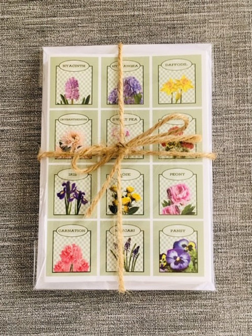 British Garden Favouties Notecards