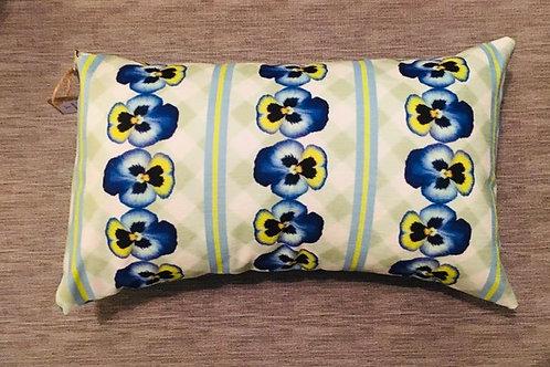 Pansy Stripe Handmade Cushion