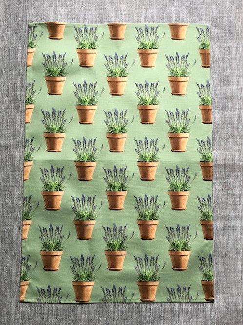 Lavender Pots Tea Towel