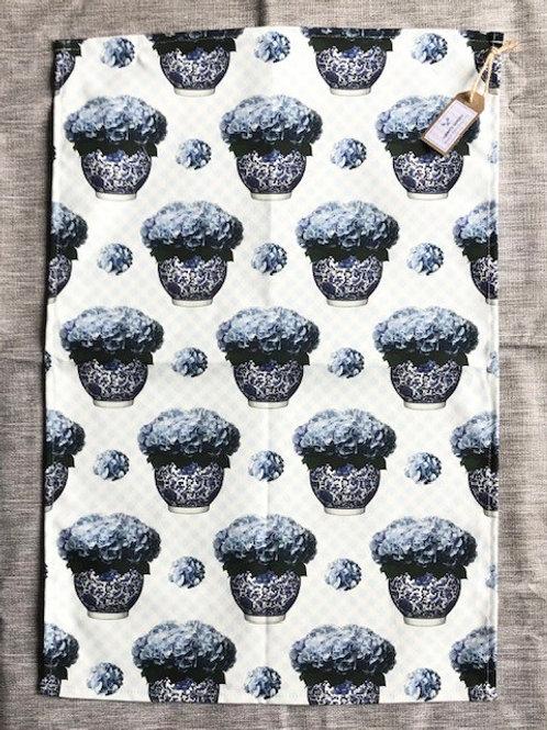 Blue Hydrangea Tea Towel