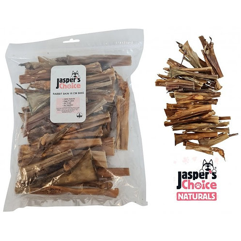 Jaspers Choice NATURALS - Air Dried Rabbit Skin Bumper Pack 500g
