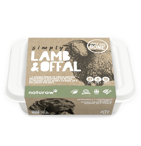 Naturaw - Simply Lamb with Offal 500g