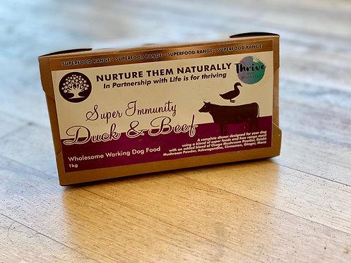 Nurture Them Naturally Superfood Range - Super Immunity Duck & Beef Complete 1kg