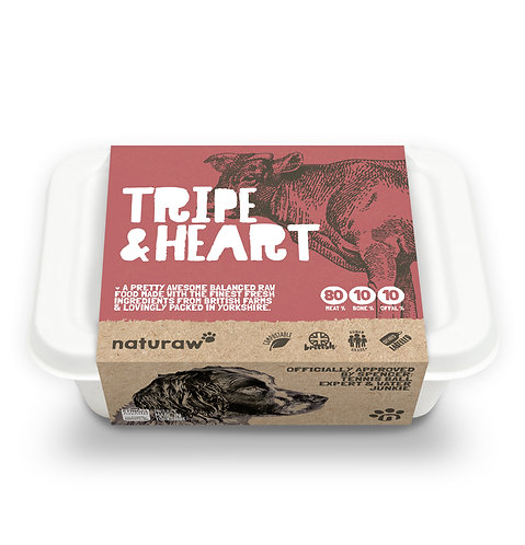 Naturaw - Tripe & Heart with Duck Complete 500g