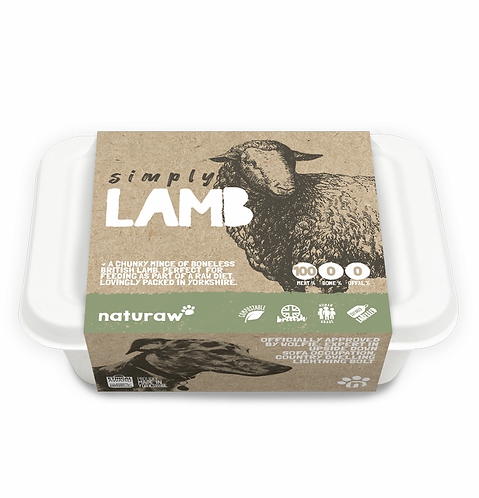 Naturaw - Simply Lamb 100% Boneless 500g