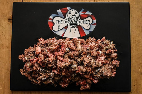 The Dogs Butcher - Oily Fish, Ox & Duck 1kg (Surf & Turf)