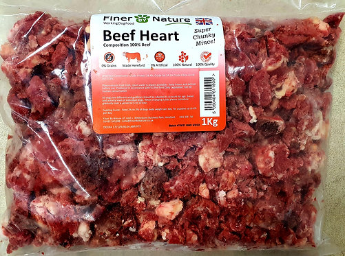 Finer By Nature - Super Chunky Beef Heart 1kg