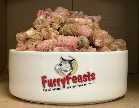 Furry Feasts - Turkey & Lamb Tripe Complete 1kg