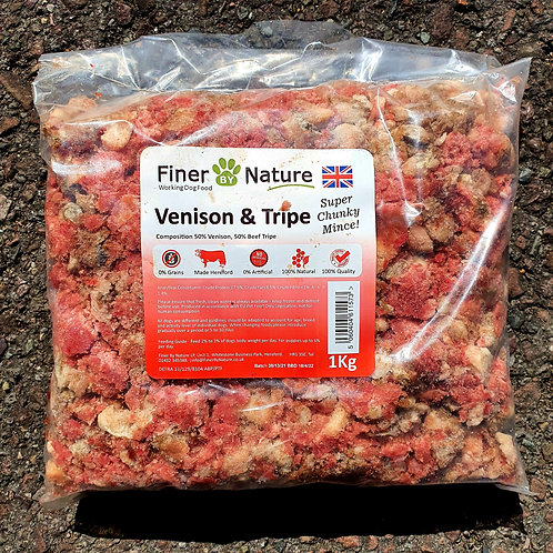 Finer By Nature - Super Chunky Scottish Venison & Beef Tripe 1kg