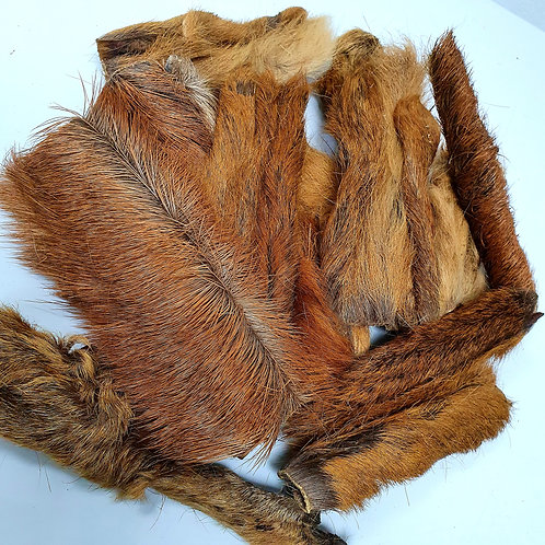 Jaspers Choice NATURALS - Venison Skin Strips with Fur 200g