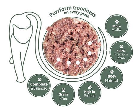 Purrform - Turkey & Ground Bone with Turkey Heart & Liver 450g
