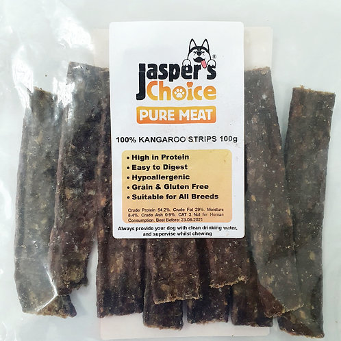 Jaspers Choice PURE MEAT - 100% Rabbit Meat Strips 100g