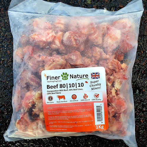 Finer By Nature - Beef 80-10-10 1kg (Super Chunky)