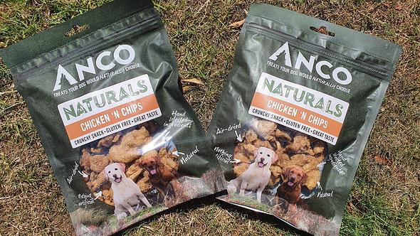 ANCO Naturals - 'Chicken N Chips' Dried Chicken Skin Bites