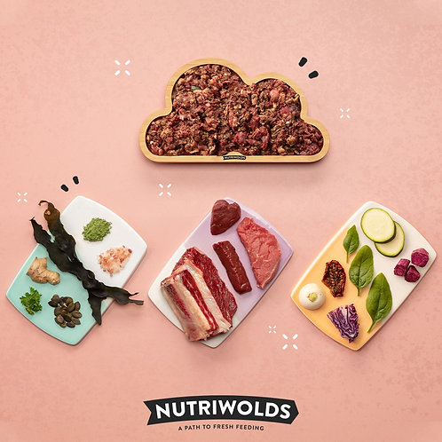 NutriWolds - Unroasted Beef Super Chunky Complete 1kg