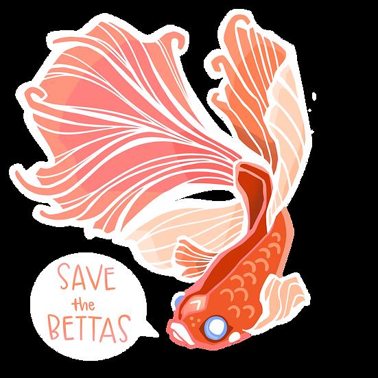 Betta 2x3 Sticker