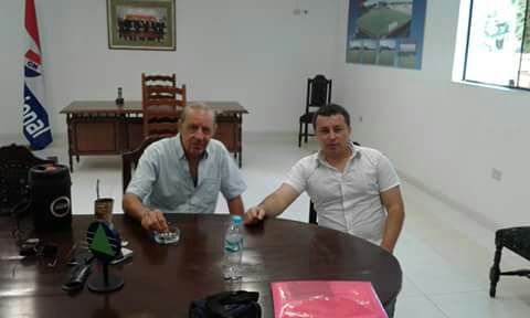 Together with President of Nacional Asuncion - Paraguay