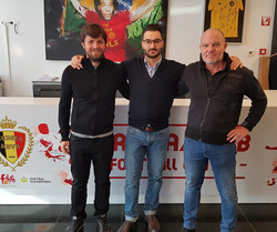 Together with Alin Stoica and Bertrand Crasson at Belgium Football Federation