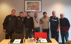 Together with Director of Coaching Education Belgium at National Training Center KBVB