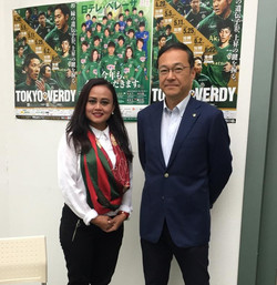 Together with President of Tokyo Verdy - Japan