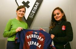 Together with President of SD Eibar Femenino