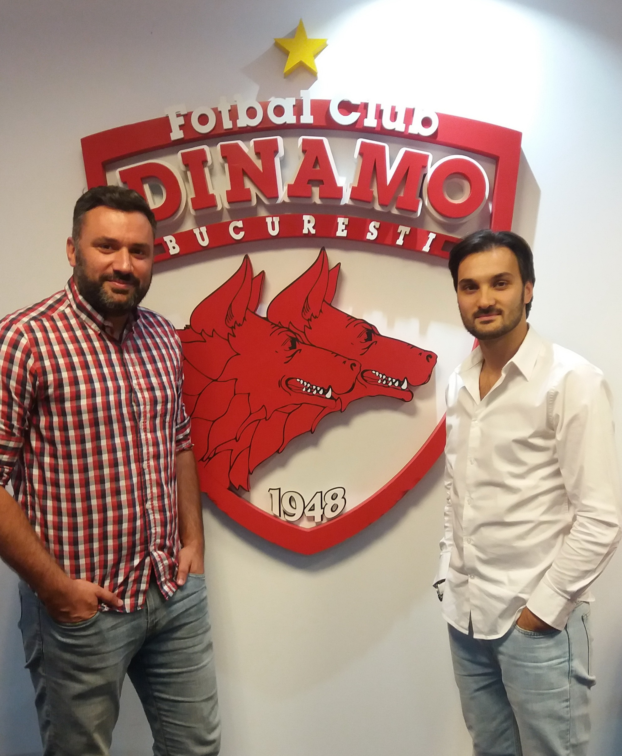 Toghether with Scouting Director of Dinamo Bucharest