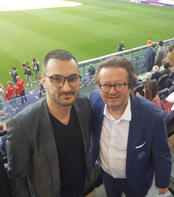 Together with owner and president of RSC Anderlecht - Belgium