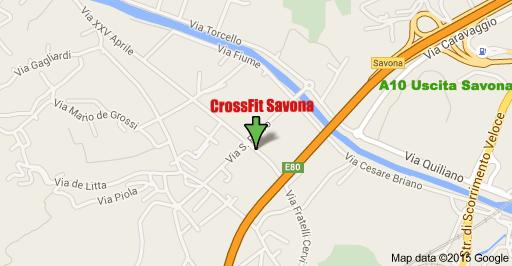 CrossFit Savona | box CrossFit Savona | Mapa Dove siamo CrossFit Savona