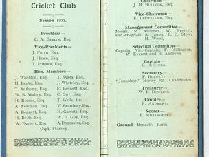 Chaddesden Cricket Club 1933-1990