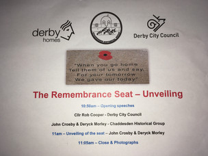 Remembrance Seat Unveiling, 19th June 2019.