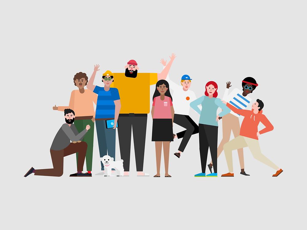 Microsoft Teams - Characters by MACIEK JANICKI on Dribbble