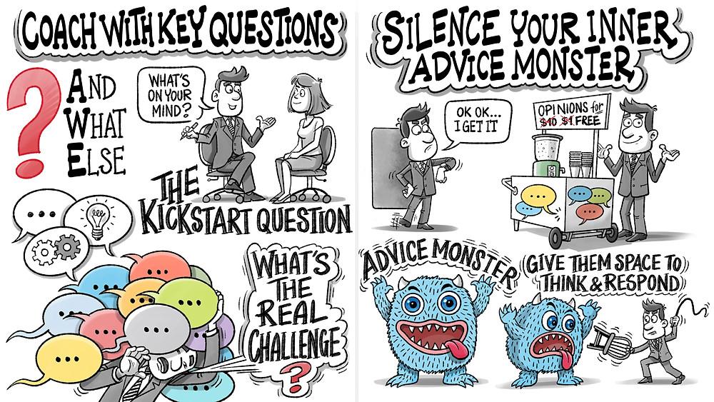 Coaching Habit Cartoon