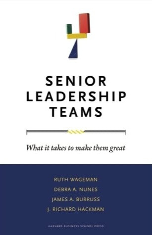 Senior Leadership Teams Wageman Book Cover