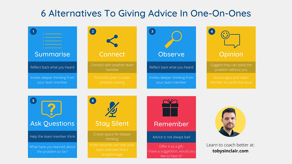 Alternatives to giving advice