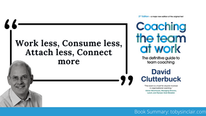 Team Coaching At Work Summary by David Clutterbuck